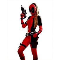 Adult Deadpool Muscle Costume 7