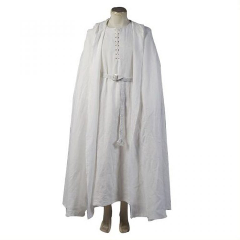 Gandalf Costume White Robe Cape 1