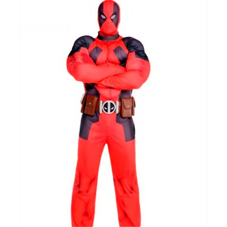 Adult Deadpool Muscle Costume 1