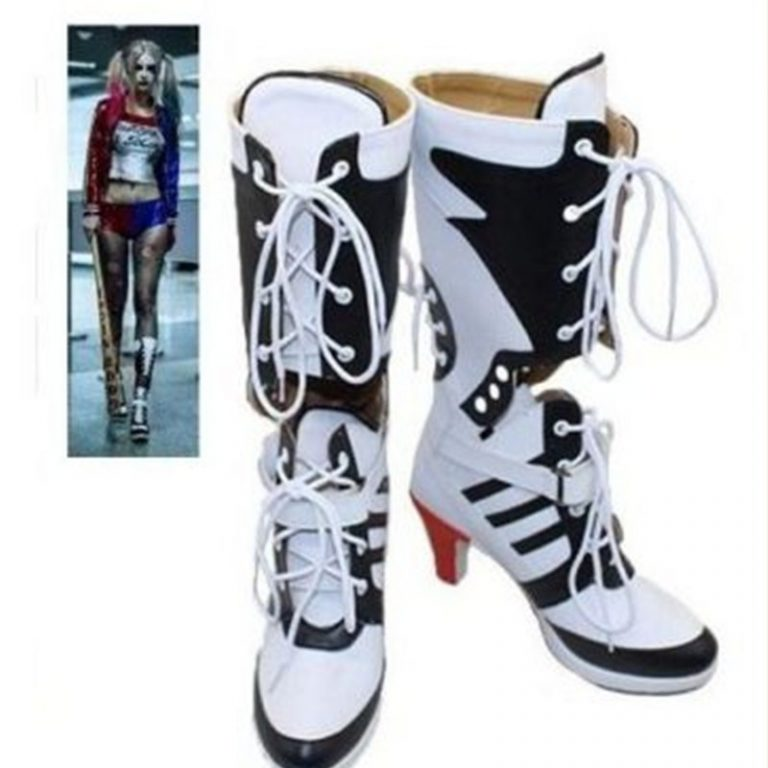 Harley Quinn Costume Boots 1