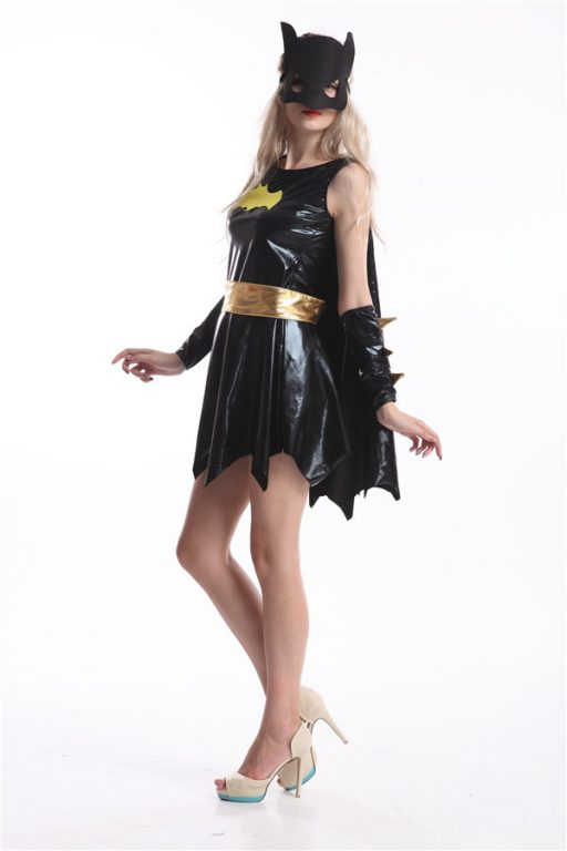 Batgirl Sexy Costume With Mask 2