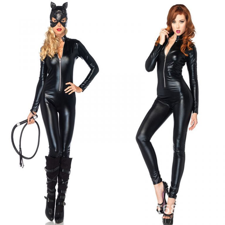 Black Sexy Catwoman Costume With Accessories 2
