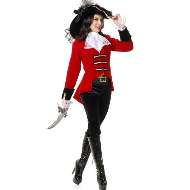 Pirates Red Women Costume for Adults 2