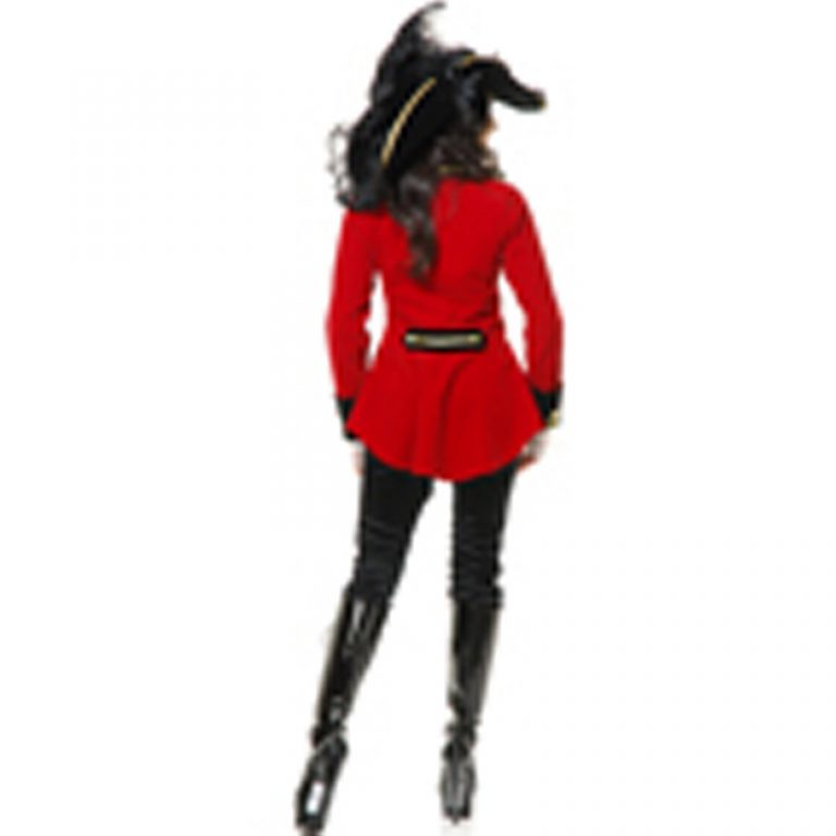 Pirates Red Women Costume for Adults 3