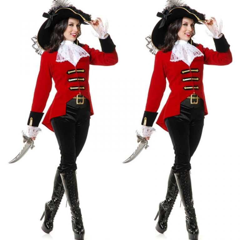 Pirates Red Women Costume for Adults 1