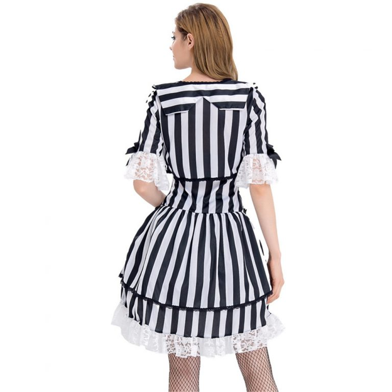 Sexy Beetlejuice Costume for Women 5