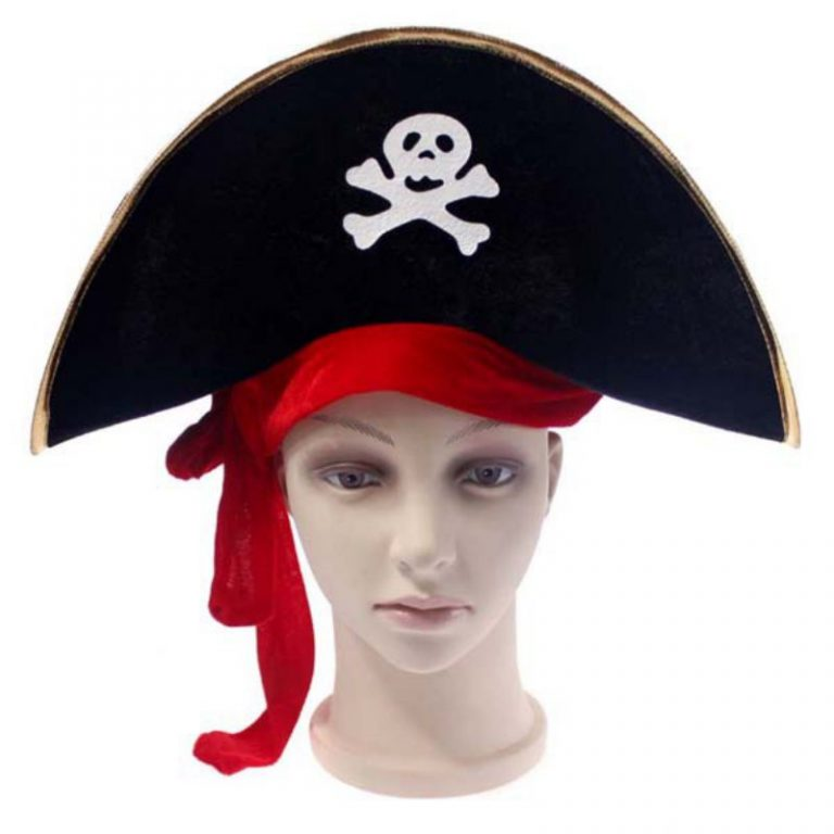 Pirate Hat with Eye-Mask Costume 2