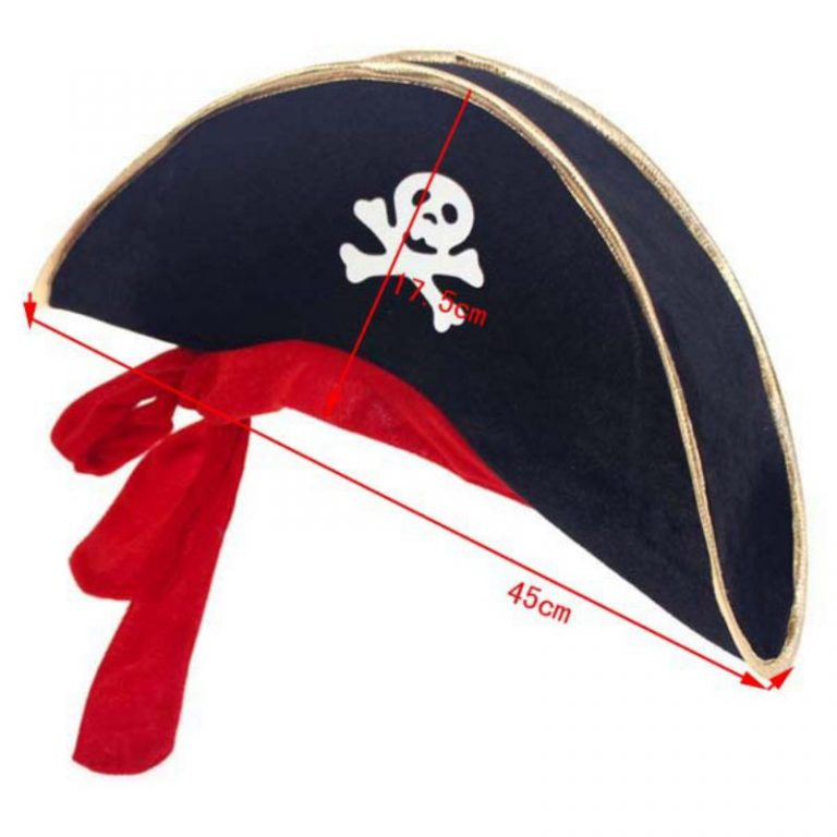 Pirate Hat with Eye-Mask Costume 3