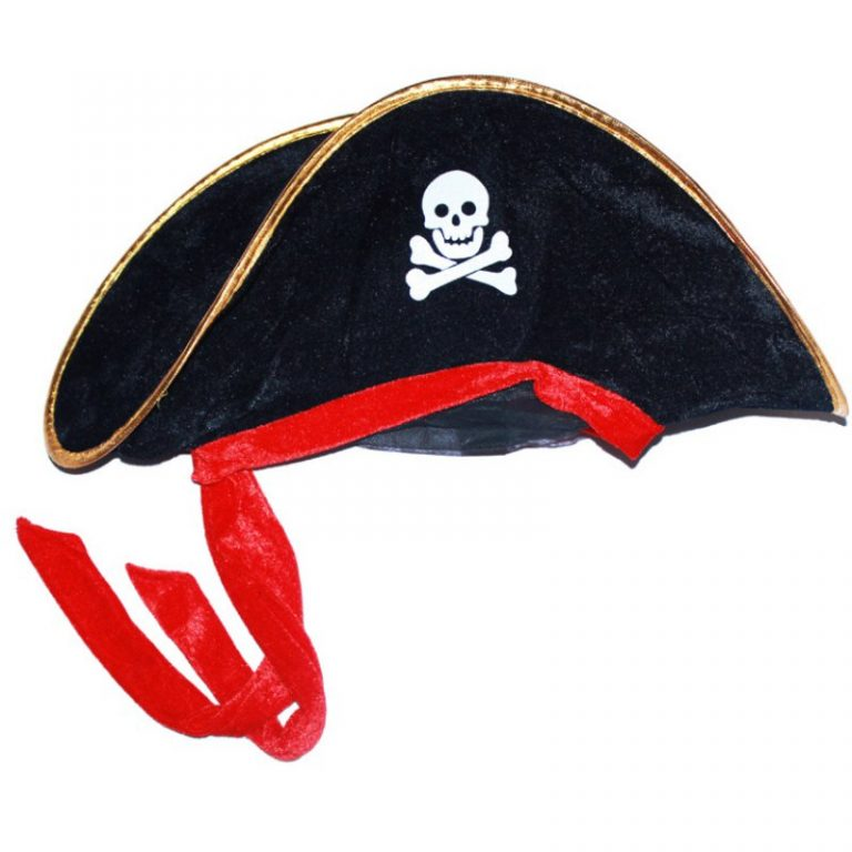 Pirate Hat with Eye-Mask Costume 4