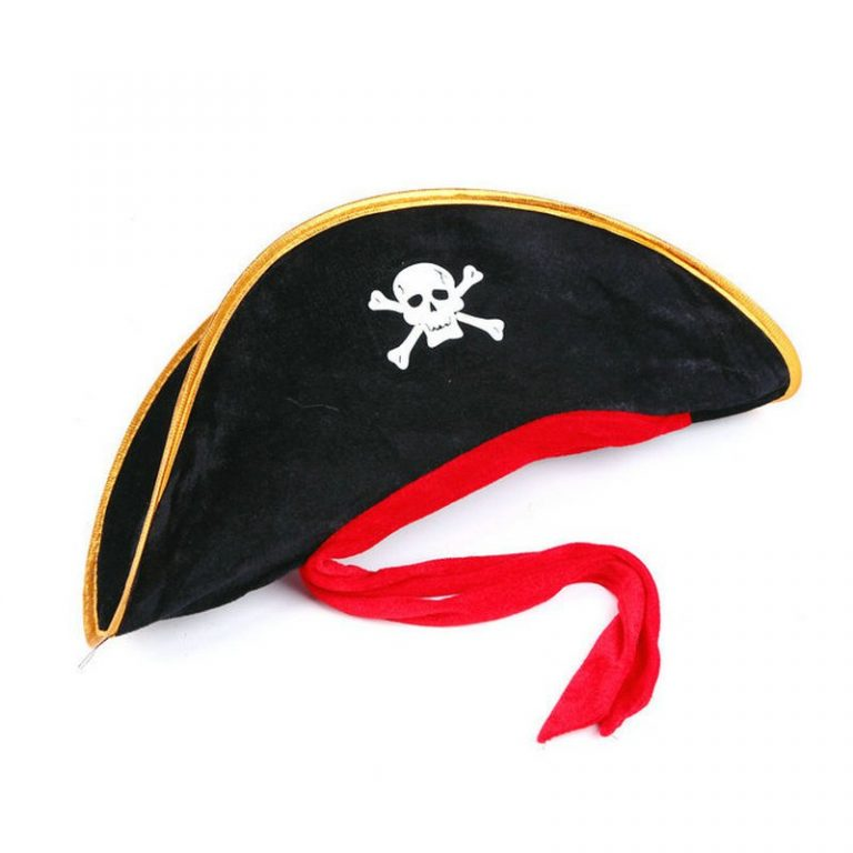 Pirate Hat with Eye-Mask Costume 5