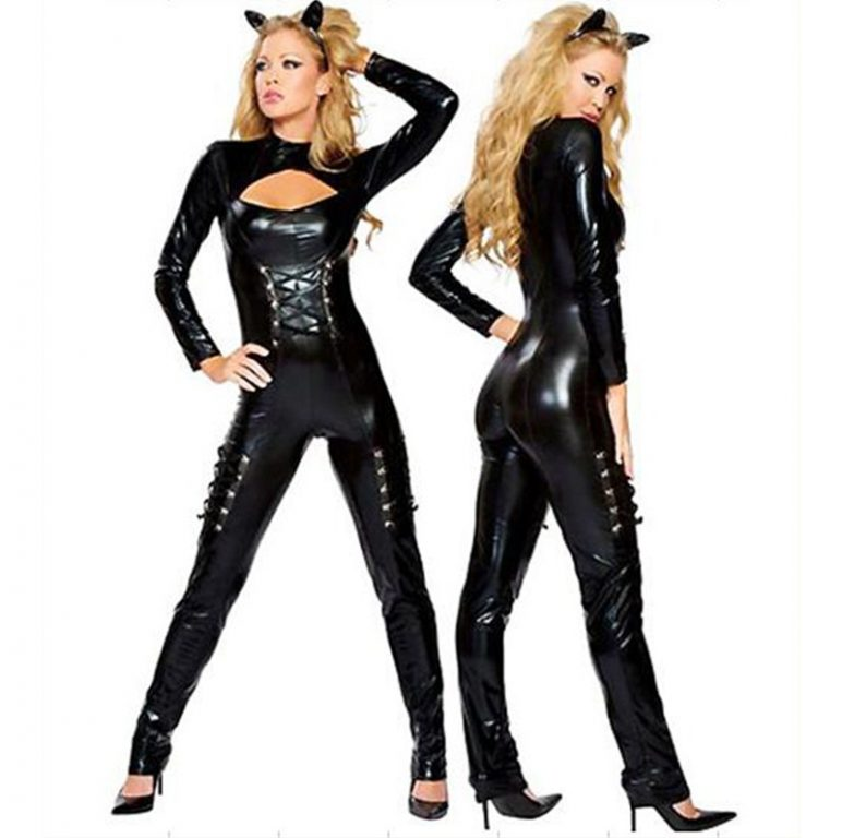 Sexy Catwoman Leather Jumpsuit For Girls 1