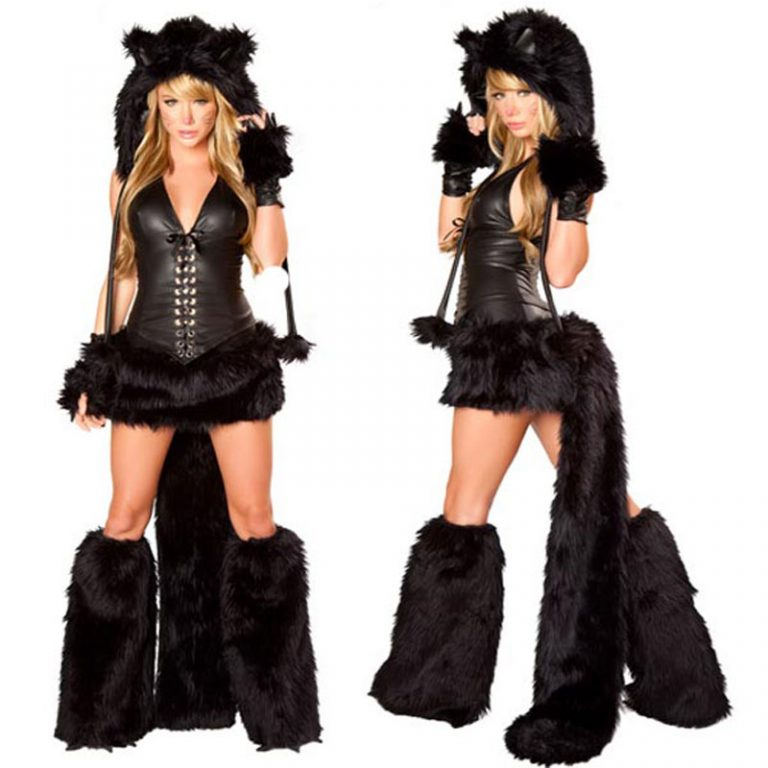 Sexy Catwomen Costume for Pluse Size 13