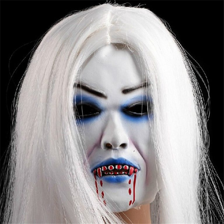 Horrible Creepy Toothy Ghost Mask for Halloween 5