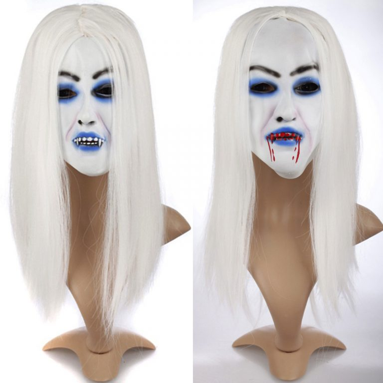 Horrible Creepy Toothy Ghost Mask for Halloween 6
