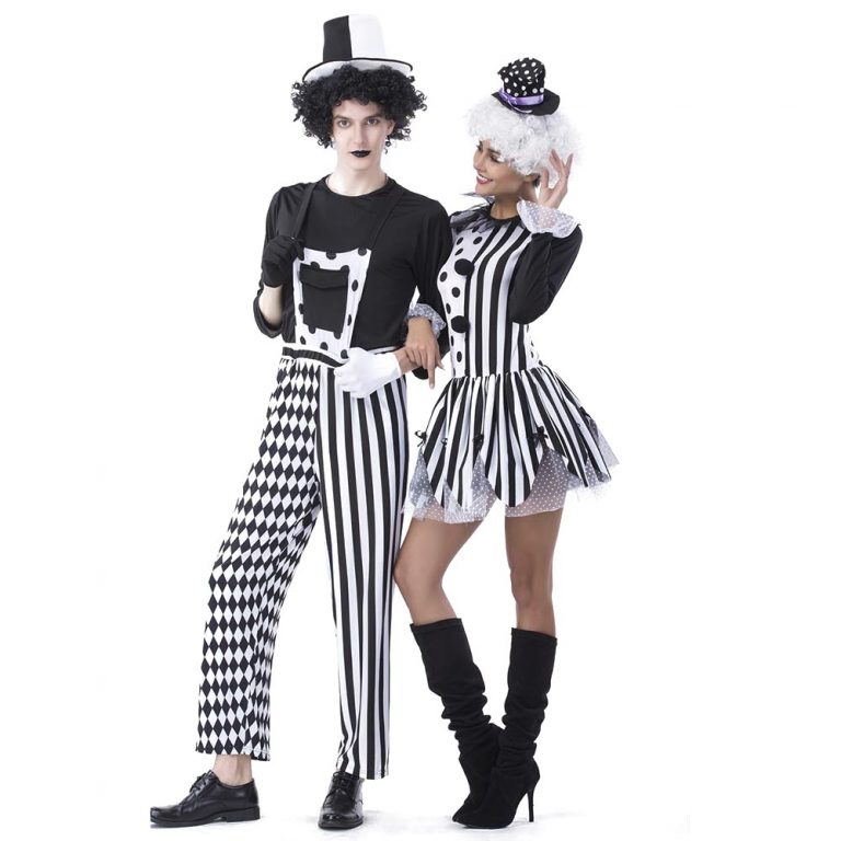 Adult Jester Couples Costumes for Halloween Fancy Dress 8