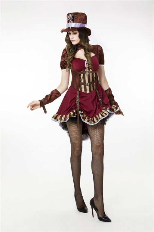 Sexy Deluxe Mad Hatter Costume for Women 2