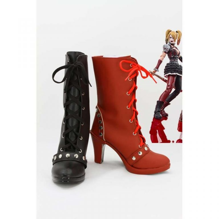 Harley Quinn Cosplay Shoes Boots For Women 2