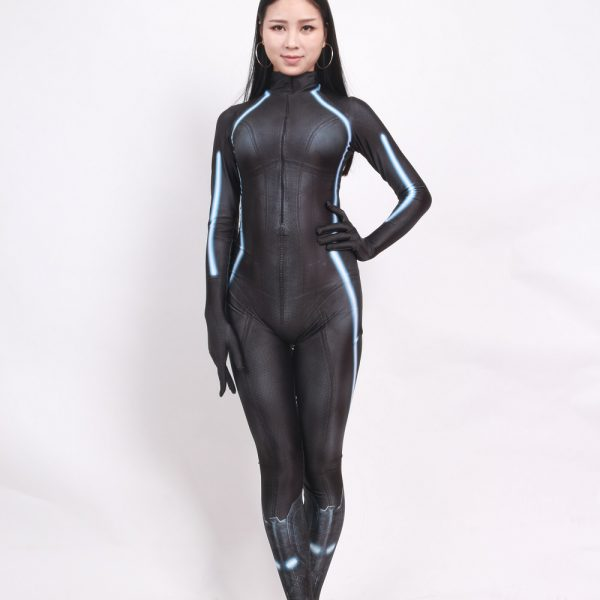 Black Widow Battle Suit Costume for Girls and Women 7