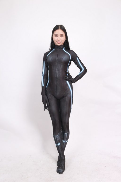 Black Widow Battle Suit Costume for Girls and Women 2