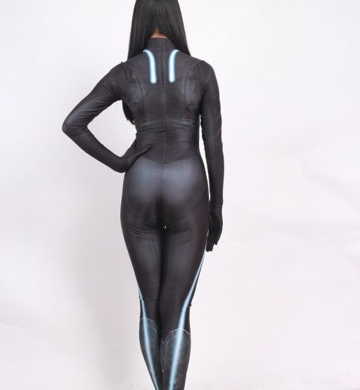 Black Widow Battle Suit Costume for Girls and Women 9