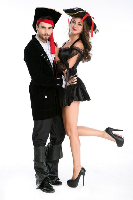 Pirate Black Sexy  Couple costumes 2