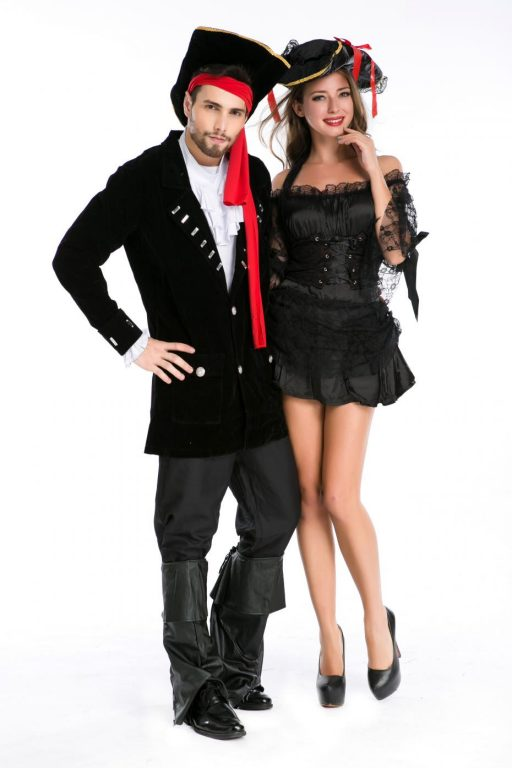 Pirate Black Sexy  Couple costumes 3
