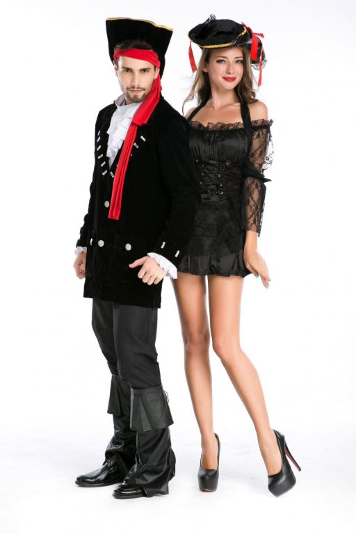 Pirate Black Sexy  Couple costumes 6