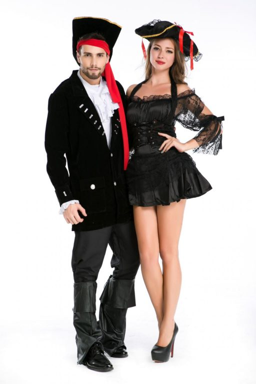 Pirate Black Sexy  Couple costumes 1