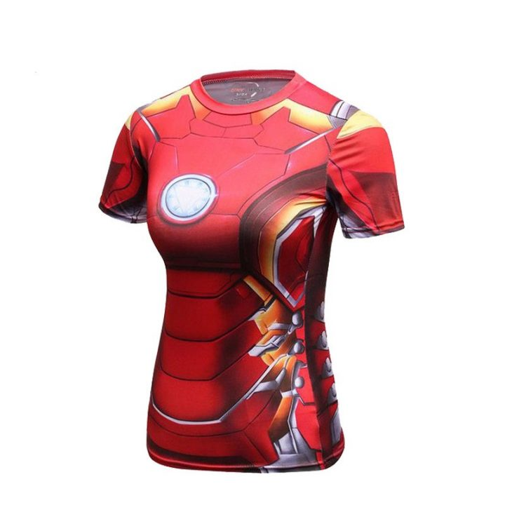 Compression-Shirt-Iron-Man-3D-Printed-T-shirts-Women-Slim-Short-Sleeve-Captain-America-Cosplay-Costume-6
