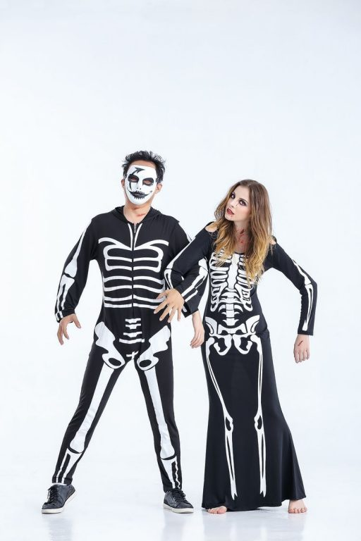 Skeleton Costume for Couples 2
