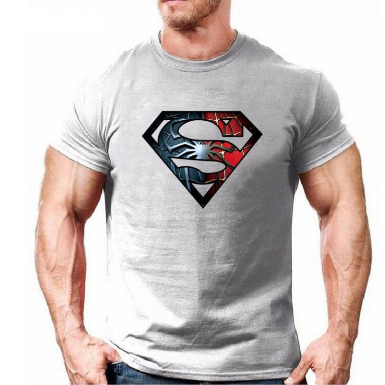 Eqmpowy-2017-New-Fashion-Spiderman-Superman-Cotton-T-Shirt-Short-Sleeve-Casual-t-shirt-superhero-tops-3