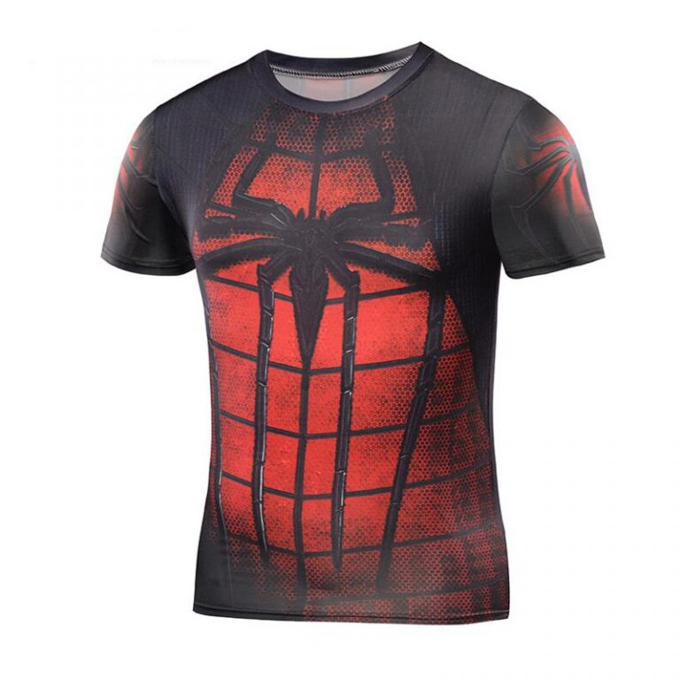 Fitness-Tshirts-3D-Spiderman-Tops-2017-Superhero-T-shirts-Compression-Quick-Dry-T-shirts-Summer-Superhero-1