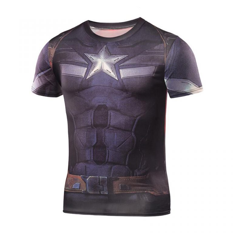 Captain America 3D Printed T-shirts 3
