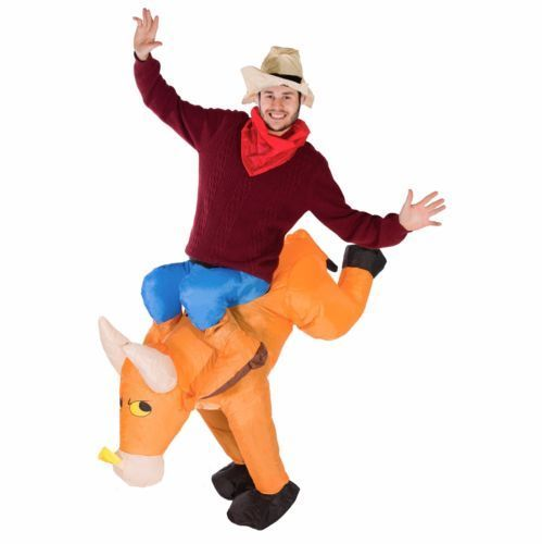 Bull Rider on Cattle Inflatable Outfit for Adult 2