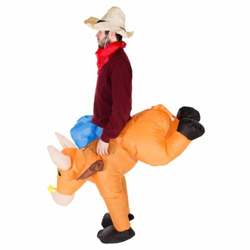 Bull Rider on Cattle Inflatable Outfit for Adult 3
