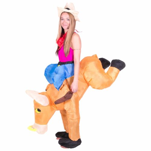 Bull Rider on Cattle Inflatable Outfit for Adult 1