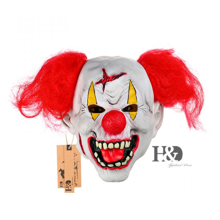 Funny Clown Mask With Red Nose for Adults 2