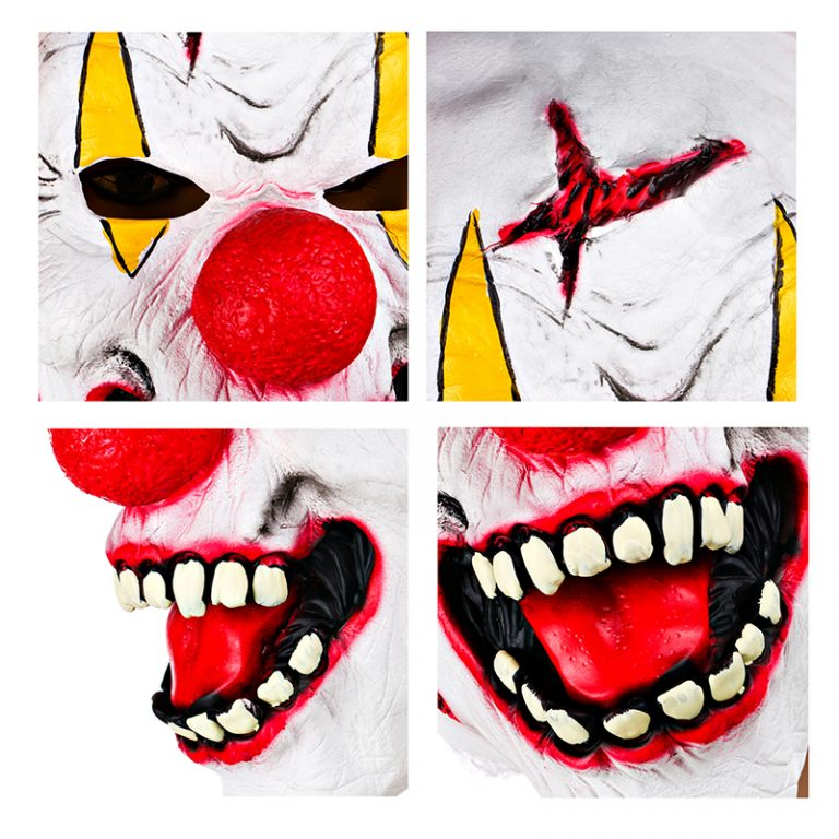Funny Clown Mask With Red Nose for Adults 4