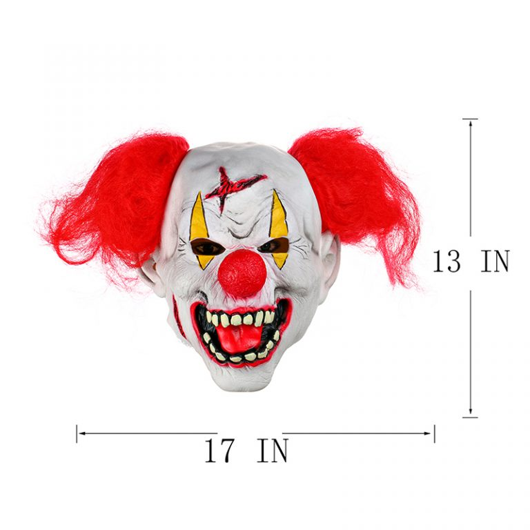 Funny Clown Mask With Red Nose for Adults 6
