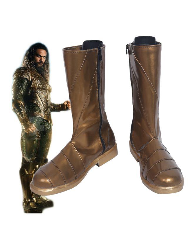 Aquaman Cosplay Boots Shoes 5