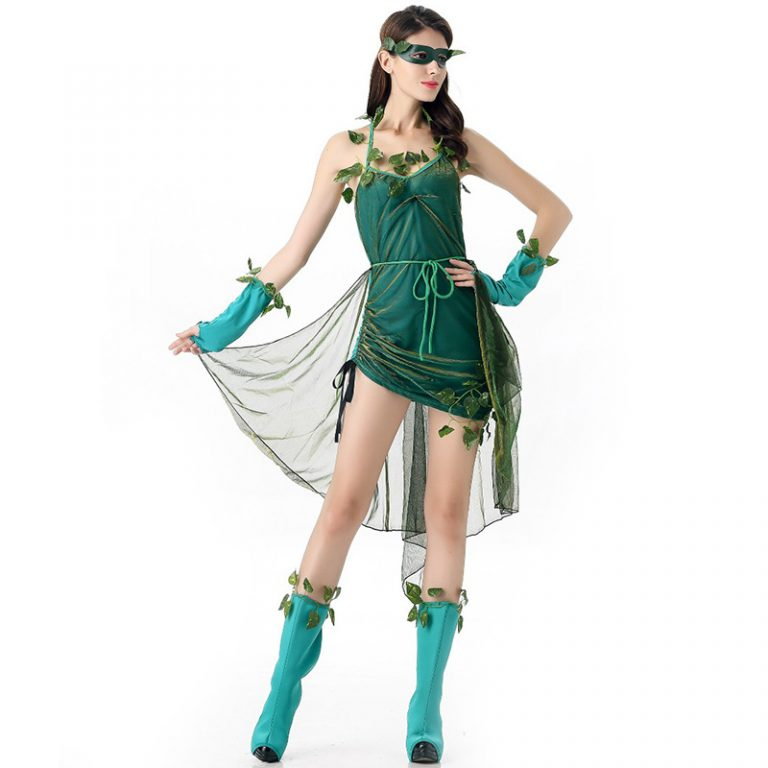 Poison Ivy Cosplay Halloween Dress for Sexy Women 2