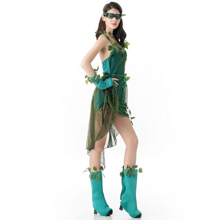 Poison Ivy Cosplay Halloween Dress for Sexy Women 5