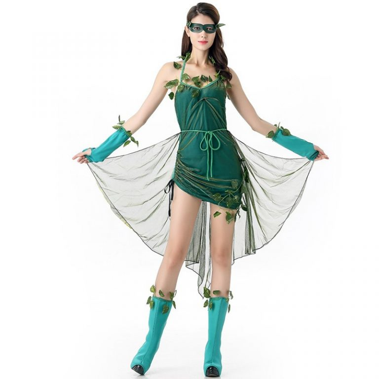 Poison Ivy Cosplay Halloween Dress for Sexy Women 1