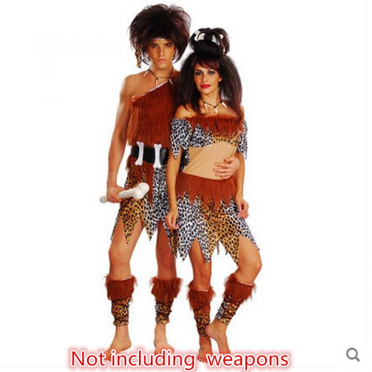 Indian Tribal Ieopard Couple Costume 1