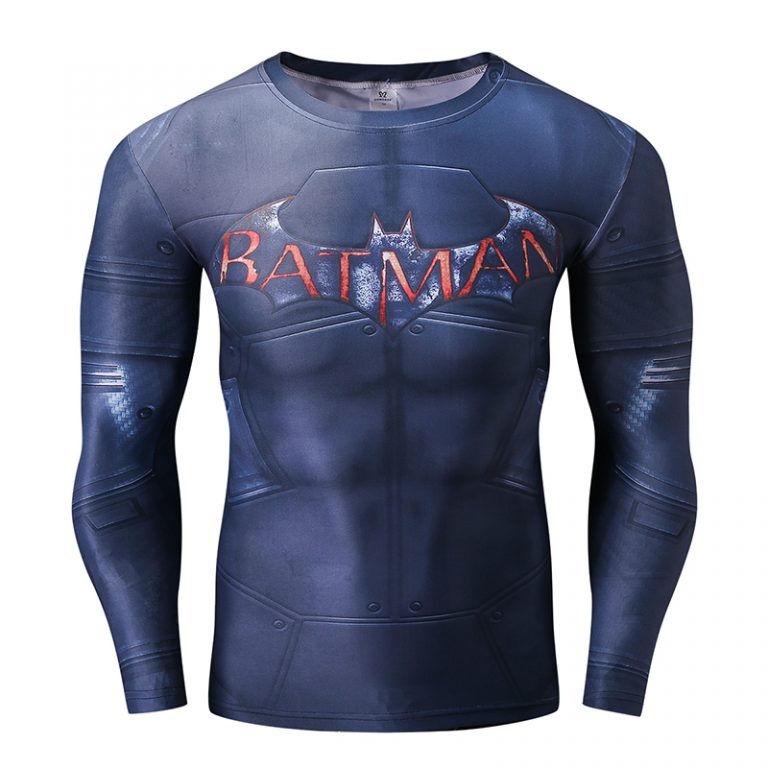 Superhero Batman 3D Printed Long Sleeve T-shirts 1