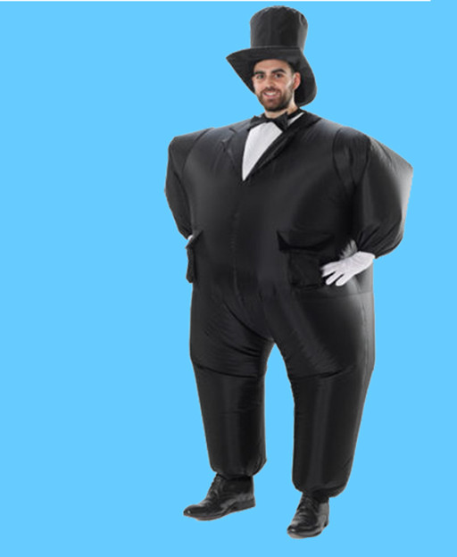 Black inflatable Costumes for Men 1