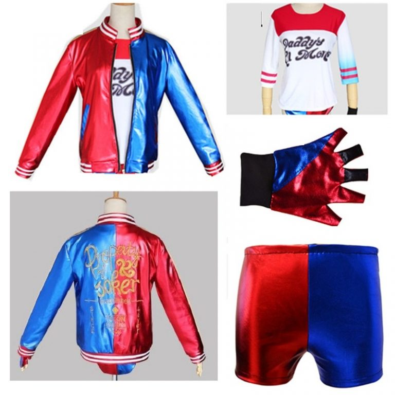 Suicide Squad Harley Quinn Costume Jacket for Kids 2