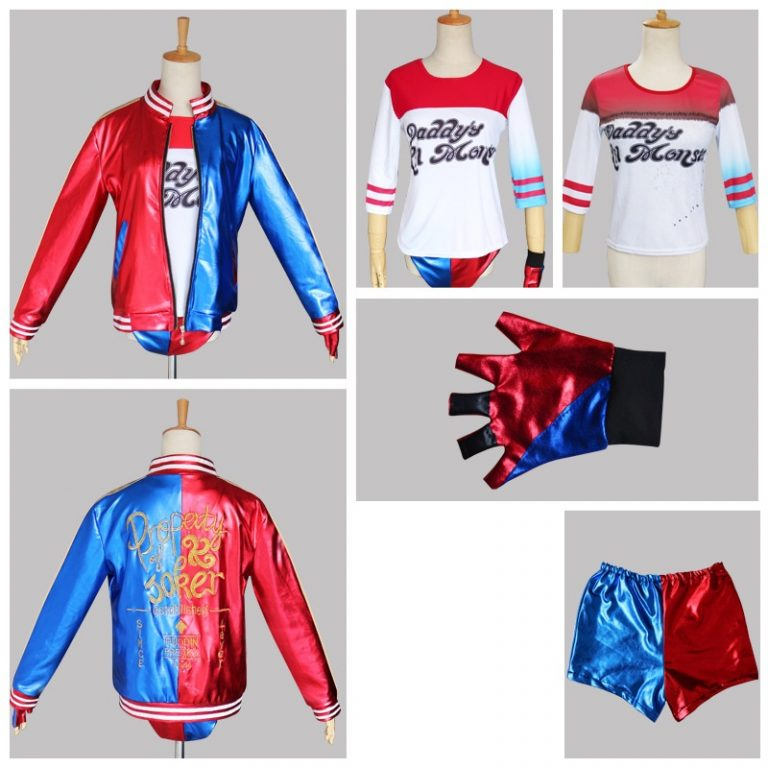 Suicide Squad Harley Quinn Costume Jacket for Kids 1