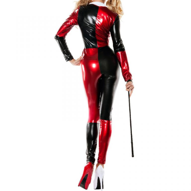 Harley quinn costume full bodysuit for women 3