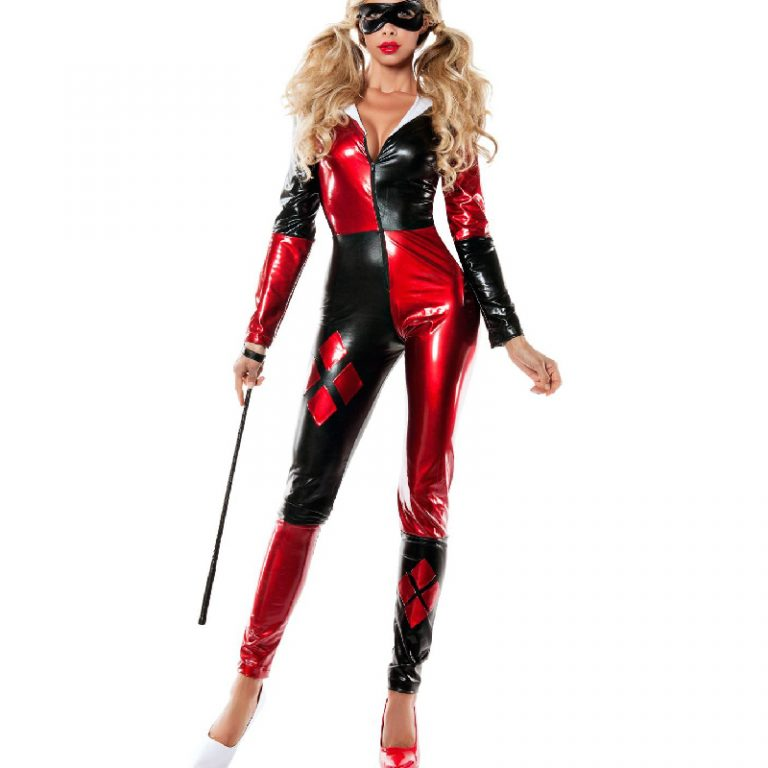 Harley quinn costume full bodysuit for women 1